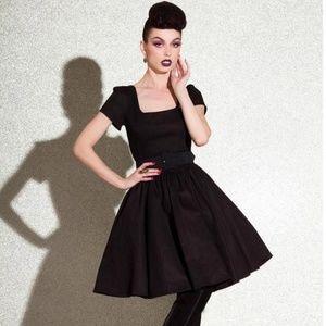 Pinup PUG Laura Byrnes Lara Dress Large NWT Black